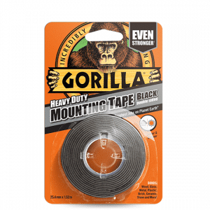 Gorilla Heavy Duty Mounting Tape – Black - 1.5m