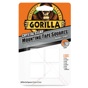 Gorilla Mounting Tape – Crystal Clear - 24 Pack