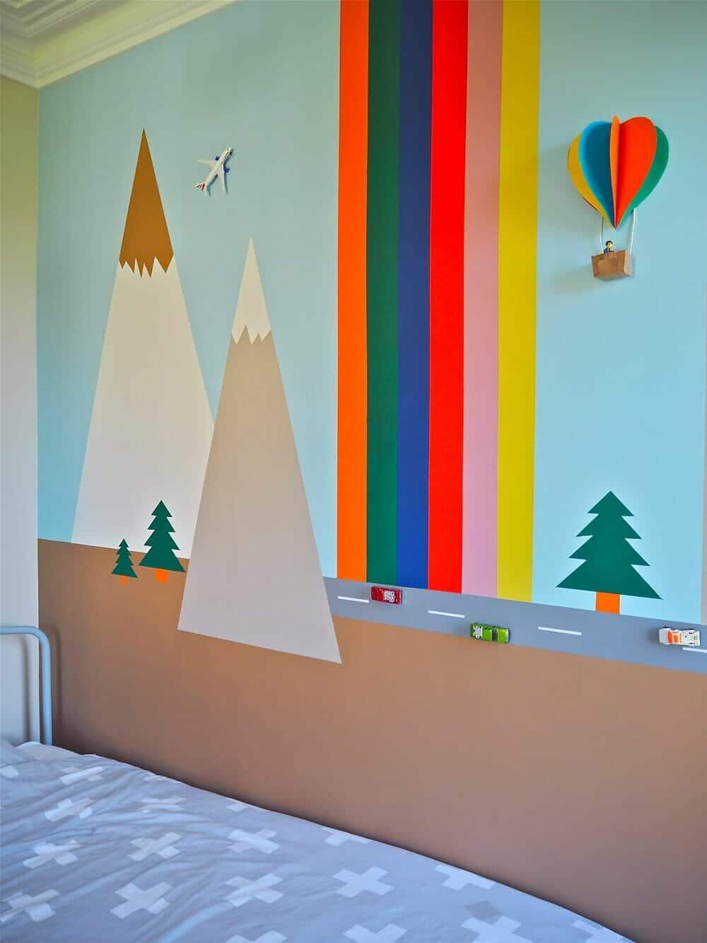 Child's Bedroom 3D Wall Mural DIY